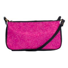 Geometric Pattern Wallpaper Pink Shoulder Clutch Bags by Amaryn4rt