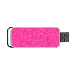 Geometric Pattern Wallpaper Pink Portable Usb Flash (one Side) by Amaryn4rt