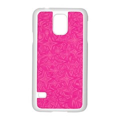 Geometric Pattern Wallpaper Pink Samsung Galaxy S5 Case (white) by Amaryn4rt