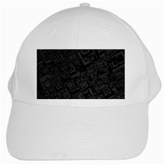 Black Rectangle Wallpaper Grey White Cap by Amaryn4rt