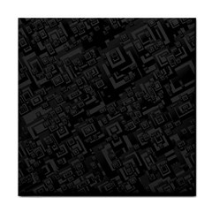 Black Rectangle Wallpaper Grey Tile Coasters by Amaryn4rt