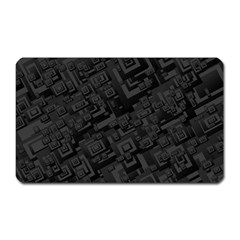 Black Rectangle Wallpaper Grey Magnet (rectangular) by Amaryn4rt