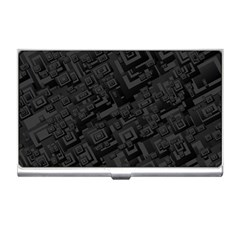 Black Rectangle Wallpaper Grey Business Card Holders