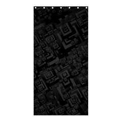 Black Rectangle Wallpaper Grey Shower Curtain 36  X 72  (stall)  by Amaryn4rt