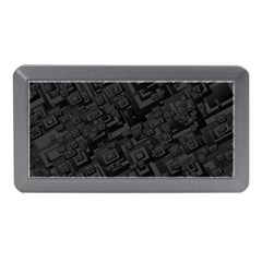 Black Rectangle Wallpaper Grey Memory Card Reader (mini) by Amaryn4rt