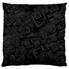 Black Rectangle Wallpaper Grey Large Cushion Case (two Sides) by Amaryn4rt