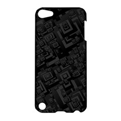 Black Rectangle Wallpaper Grey Apple Ipod Touch 5 Hardshell Case by Amaryn4rt