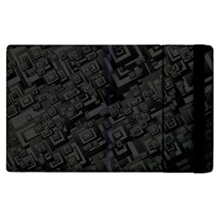 Black Rectangle Wallpaper Grey Apple Ipad 3/4 Flip Case by Amaryn4rt