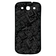 Black Rectangle Wallpaper Grey Samsung Galaxy S3 S Iii Classic Hardshell Back Case by Amaryn4rt