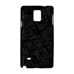 Black Rectangle Wallpaper Grey Samsung Galaxy Note 4 Hardshell Case by Amaryn4rt