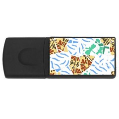 Broken Tile Texture Background Usb Flash Drive Rectangular (4 Gb) by Amaryn4rt