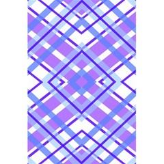 Geometric Plaid Pale Purple Blue 5 5  X 8 5  Notebooks by Amaryn4rt