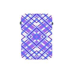 Geometric Plaid Pale Purple Blue Apple Ipad Mini Protective Soft Cases by Amaryn4rt