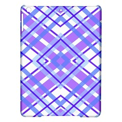 Geometric Plaid Pale Purple Blue Ipad Air Hardshell Cases by Amaryn4rt
