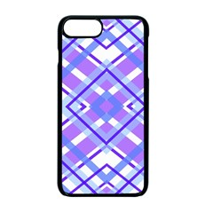 Geometric Plaid Pale Purple Blue Apple Iphone 7 Plus Seamless Case (black) by Amaryn4rt