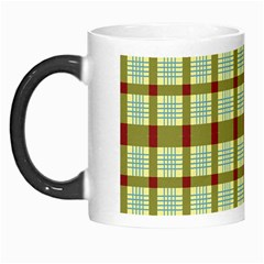 Geometric Tartan Pattern Square Morph Mugs by Amaryn4rt