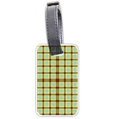 Geometric Tartan Pattern Square Luggage Tags (one Side)  by Amaryn4rt