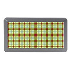 Geometric Tartan Pattern Square Memory Card Reader (mini) by Amaryn4rt