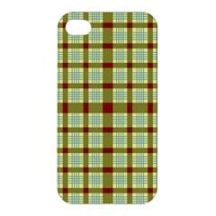 Geometric Tartan Pattern Square Apple Iphone 4/4s Premium Hardshell Case by Amaryn4rt