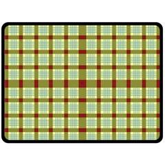 Geometric Tartan Pattern Square Double Sided Fleece Blanket (large)  by Amaryn4rt
