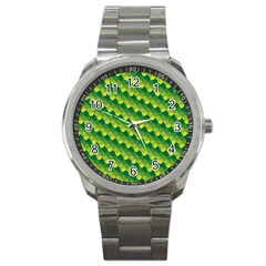 Dragon Scale Scales Pattern Sport Metal Watch by Amaryn4rt
