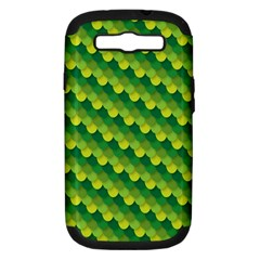 Dragon Scale Scales Pattern Samsung Galaxy S Iii Hardshell Case (pc+silicone) by Amaryn4rt