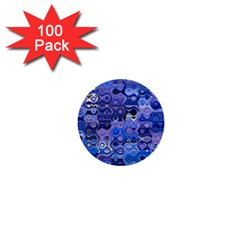 Background Texture Pattern Colorful 1  Mini Buttons (100 Pack)  by Amaryn4rt