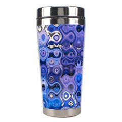 Background Texture Pattern Colorful Stainless Steel Travel Tumblers by Amaryn4rt