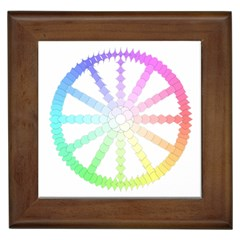 Polygon Evolution Wheel Geometry Framed Tiles by Amaryn4rt