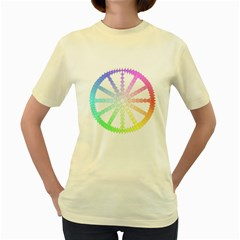 Polygon Evolution Wheel Geometry Women s Yellow T Shirt by Amaryn4rt