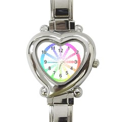 Polygon Evolution Wheel Geometry Heart Italian Charm Watch by Amaryn4rt