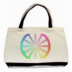 Polygon Evolution Wheel Geometry Basic Tote Bag (two Sides) by Amaryn4rt
