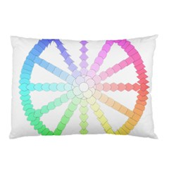 Polygon Evolution Wheel Geometry Pillow Case by Amaryn4rt