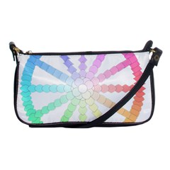 Polygon Evolution Wheel Geometry Shoulder Clutch Bags by Amaryn4rt