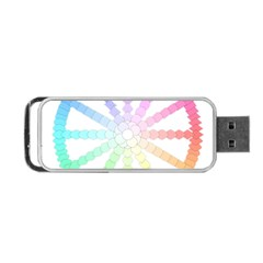 Polygon Evolution Wheel Geometry Portable Usb Flash (two Sides) by Amaryn4rt
