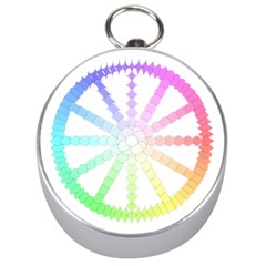Polygon Evolution Wheel Geometry Silver Compasses by Amaryn4rt