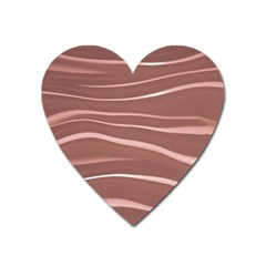 Lines Swinging Texture Background Heart Magnet