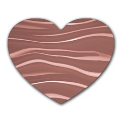 Lines Swinging Texture Background Heart Mousepads by Amaryn4rt