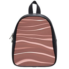 Lines Swinging Texture Background School Bags (small)  by Amaryn4rt
