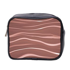 Lines Swinging Texture Background Mini Toiletries Bag 2 Side by Amaryn4rt