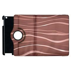 Lines Swinging Texture Background Apple Ipad 2 Flip 360 Case by Amaryn4rt