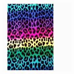 Cheetah Neon Rainbow Animal Small Garden Flag (two Sides) by Alisyart