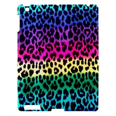 Cheetah Neon Rainbow Animal Apple Ipad 3/4 Hardshell Case by Alisyart