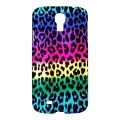 Cheetah Neon Rainbow Animal Samsung Galaxy S4 I9500/i9505 Hardshell Case by Alisyart
