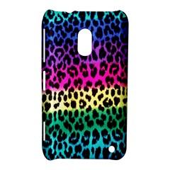 Cheetah Neon Rainbow Animal Nokia Lumia 620 by Alisyart
