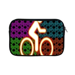 Bike Neon Colors Graphic Bright Bicycle Light Purple Orange Gold Green Blue Apple Ipad Mini Zipper Cases by Alisyart