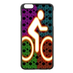 Bike Neon Colors Graphic Bright Bicycle Light Purple Orange Gold Green Blue Apple Iphone 6 Plus/6s Plus Black Enamel Case by Alisyart
