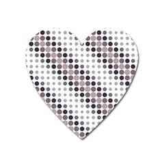 Circle Blue Grey Line Waves Black Heart Magnet by Alisyart