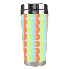 Circles Orange Blue Green Yellow Stainless Steel Travel Tumblers by Alisyart