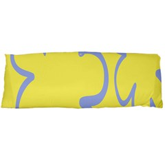 Doodle Shapes Large Flower Floral Grey Yellow Body Pillow Case (dakimakura) by Alisyart